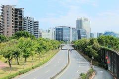 Vista ulica w Neihu okręgu, Taipei miasto, Tajwan Zdjęcie Royalty Free