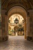 Vista in un cortile, La Valletta, Malta Fotografia Stock