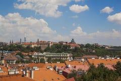 Vista a una ciudad de Praga imágenes de archivo libres de regalías