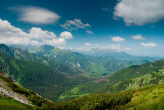 Vista in una valle in mountines di Tatra Immagini Stock Libere da Diritti