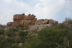Vista unica della roccia Immagine Stock