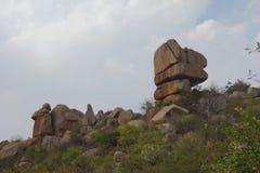 Vista unica della roccia Fotografie Stock Libere da Diritti