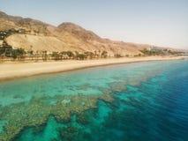 Vista unica deserto/della barriera corallina fotografia stock