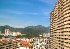 Vista urbana bonita da ilha de Penang, Malásia imagem de stock royalty free