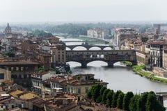 Vista urbana de Florencia - Italia Imágenes de archivo libres de regalías