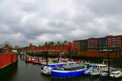 Vista urbana de Hamburgo, foto de stock royalty free