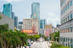 Vista urbana de Miami céntrica fotografía de archivo libre de regalías