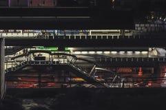 Vista urbana della stazione Punnawithi, Bangkok di BTS Fotografie Stock Libere da Diritti