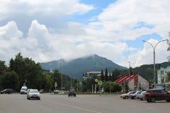 Vista urbana di Belokurikha - una piccola stazione turistica calma in Russia nel Altai immagini stock libere da diritti