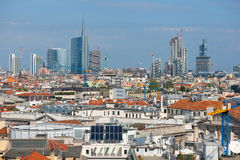 Vista urbana di Milano Fotografia Stock Libera da Diritti