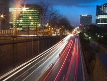 Vista urbana di notte Immagini Stock Libere da Diritti