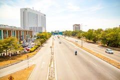 Vista urbana hermosa de la isla de Penang, Malasia fotografía de archivo