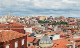 Vista urbana storica di panorama della vecchia città, Oporto Oporto Portogallo Fotografia Stock Libera da Diritti