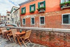 Vista urbana venetian típica Fotos de Stock Royalty Free