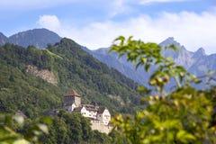 Vista a Vaduz, Liechtenstein Imagen de archivo