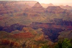 Vista variopinta del grande canyon della sorgente Immagine Stock