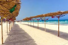 Vista variopinta della spiaggia di Susa, Tunisia fotografia stock