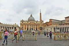 Vista Vaticano del quadrato del ` s di St Peter fotografia stock