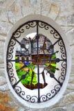 Vista velha pitoresca da janela Fotos de Stock Royalty Free