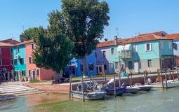 vista a Venecia del barco fotografía de archivo libre de regalías