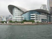 Vista verso il centro di mostra e di Hong Kong Convention immagine stock
