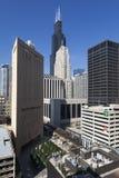 Vista vertical das construções foto de stock