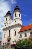 Vista vertical de la abadía de Tihany Fotografía de archivo