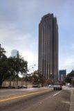 Vista vertical del centro del cuervo de Trammell, Dallas Fotografía de archivo