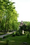 Vista vertical do parque de Govora imagem de stock