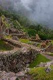 Vista verticale dalla cima delle rovine antiche Fotografia Stock Libera da Diritti