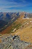 Vista verticale di Tatras ad ovest in autunno Immagine Stock Libera da Diritti