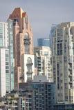 Vista verticale di Vancouver del centro Immagine Stock Libera da Diritti