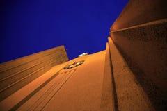 Vista verticale Hallgrimskirkja Immagini Stock Libere da Diritti