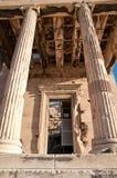 Vista vicina dal Partenon a Atene Fotografia Stock Libera da Diritti