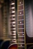 Vista vicina del fretboard della chitarra Immagine Stock Libera da Diritti
