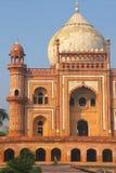 Vista vicina della tomba di Safdarjung, Nuova Delhi, India fotografie stock