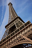 Vista vicina della Torre Eiffel Immagini Stock Libere da Diritti