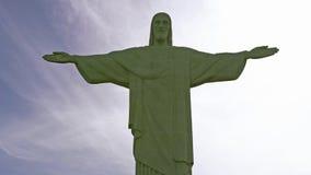 Vista vicina di Cristo la statua del redentore Immagini Stock Libere da Diritti