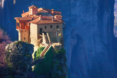Vista vicina sul monastero di Rosanou, Grecia Immagini Stock Libere da Diritti