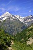 Vista vicino al Cervino in svizzero Immagine Stock