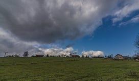 Vista vicino al villaggio di Horni Studenky nell'area di Zabreh fotografia stock libera da diritti