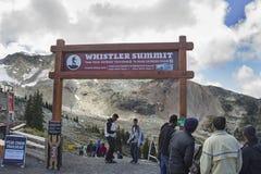 Vista vicino alla sommità di Whistler Immagine Stock