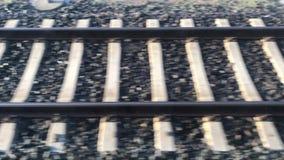 Vista video em trilhas de estrada de ferro filme