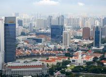 Vista vivente dei distretti di Singapore Immagine Stock