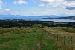 Vista von Taupo-Einfassungen lizenzfreies stockbild