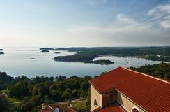 Vista a Vrsar da sopra - Istria, Croazia Immagine Stock