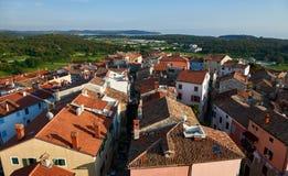 Vista a Vrsar de cima - de Istria, Croácia Imagem de Stock Royalty Free