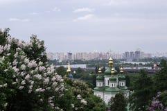Vista Vudubickiy, Kiev Fotografie Stock