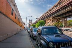 Vista vuota della via di New York City Fotografia Stock