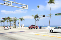 Vistamar Street at SR A1A Royalty Free Stock Photos